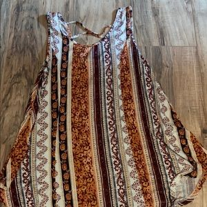 Flowy Blouse With Criss Cross Back